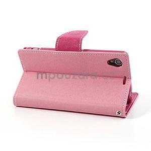 Fancy peněženkové pouzdro na mobil Sony Xperia Z1 - růžové - 4