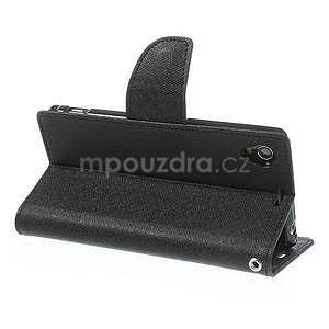 Fancy Peňaženkové puzdro pre mobil Sony Xperia Z1 - čierne - 4
