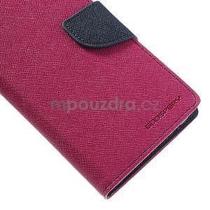 Fancy Peňaženkové puzdro pre mobil Sony Xperia Z1 - rose - 4