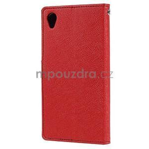 Peňaženkové puzdro pre mobil Sony Xperia Z3 - červené - 4