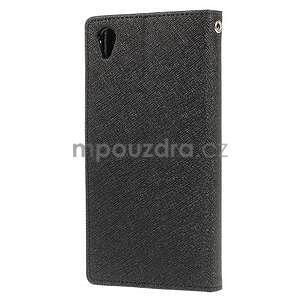 Peňaženkové puzdro pre mobil Sony Xperia Z3 - čierne - 4