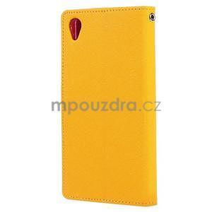 Peňaženkové puzdro pre mobil Sony Xperia Z3 - žlté - 4