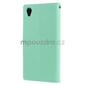 Peňaženkové puzdro pre mobil Sony Xperia Z3 - azurové - 4