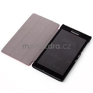 Polohovateľné puzdro na tablet Lenovo Tab 2 A7-10 - hnedé - 4