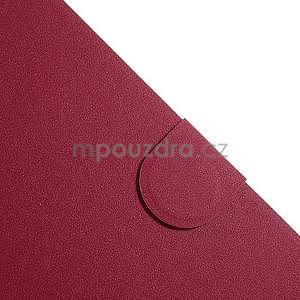 PU kožené puzdro pre tablet peňaženkové Samsung Galaxy Tab 8.0 4 -  magenta - 4
