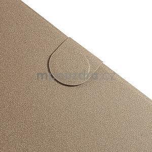 PU kožené puzdro pre tablet peňaženkové Samsung Galaxy Tab 8.0 4 - champagne - 4