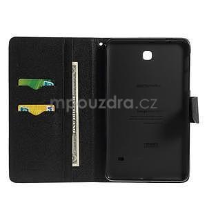 Čierne peňaženkové puzdro Goospery na tablet Samsung Galaxy Tab 8.0 4 - 4