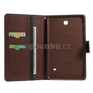 Čierne/hnedé peňaženkové puzdro Goospery na tablet Samsung Galaxy Tab 8.0 4 - 4