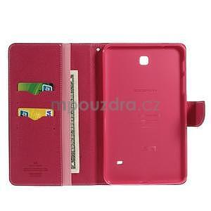 Ružové peňaženkové puzdro Goospery na tablet Samsung Galaxy Tab 8.0 4 - 4