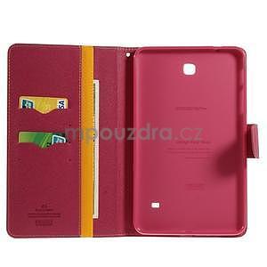 Žlté peňaženkové puzdro Goospery na tablet Samsung Galaxy Tab 8.0 4 - 4