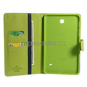 Modré peňaženkové puzdro Goospery pre tablet Samsung Galaxy Tab 8.0 4 - 4