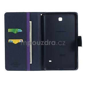 Fialové peňaženkové puzdro Goospery na tablet Samsung Galaxy Tab 8.0 4 - 4