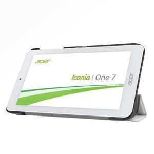 Trifold polohovatelné pouzdro na tablet Acer Iconia One 7 B1-770 - bílé - 4