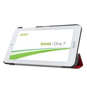 Trifold polohovatelné puzdro pre tablet Acer Iconia One 7 B1-770 - červené - 4
