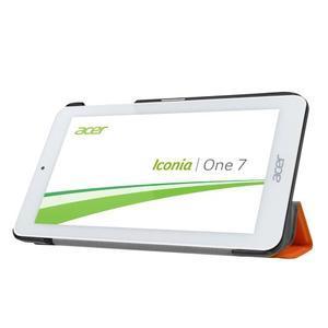 Trifold polohovatelné puzdro pre tablet Acer Iconia One 7 B1-770 - oranžové - 4