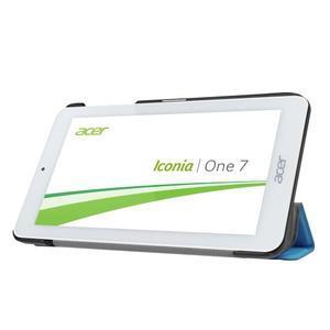 Trifold polohovatelné puzdro pre tablet Acer Iconia One 7 B1-770 - svetlomodré - 4