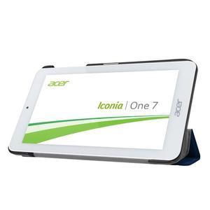 Trifold polohovatelné puzdro pre tablet Acer Iconia One 7 B1-770 - tmavomodré - 4