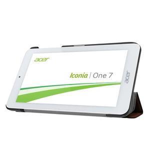 Trifold polohovatelné pouzdro na tablet Acer Iconia One 7 B1-770 - hnědé - 4