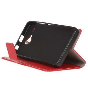 Gregory peňaženkové puzdro pre Acer Liquid Z520 - červené - 4