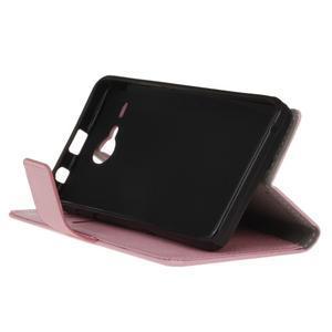 Gregory peňaženkové puzdro pre Acer Liquid Z520 - ružové - 4