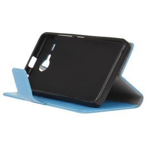 Gregory peněženkové pouzdro na Acer Liquid Z520 - modré - 4