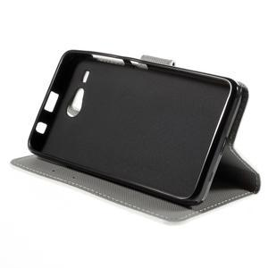 Nice koženkové puzdro pre mobil Acer Liquid Z520 - zebra - 4