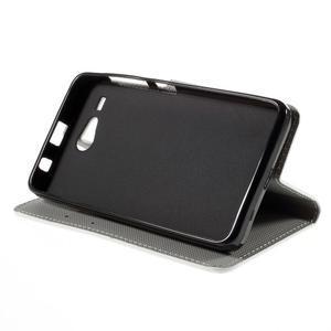 Nice koženkové puzdro pre mobil Acer Liquid Z520 - trojújelníky - 4