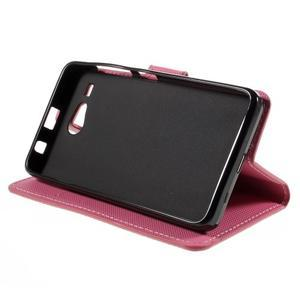 Nice koženkové puzdro pre mobil Acer Liquid Z520 - geo tvary - 4