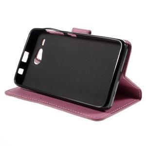 Nice koženkové puzdro pre mobil Acer Liquid Z520 - fialové kvety - 4