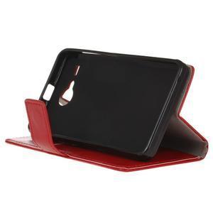 Stanley PU kožené puzdro pre Acer Liquid Z520 - červené - 4