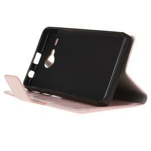 Stanley PU kožené pouzdro na Acer Liquid Z520 - růžové - 4