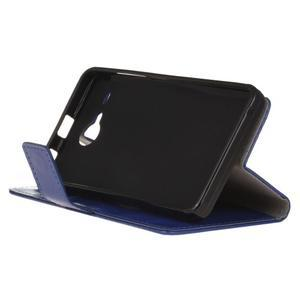Stanley PU kožené pouzdro na Acer Liquid Z520 - modré - 4