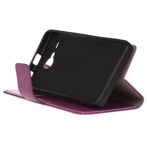 Stanley PU kožené puzdro pre Acer Liquid Z520 - fialové - 4