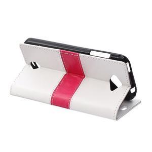 Lines PU kožené puzdro pre Acer Liquid Z530 - biele - 4