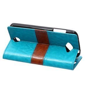 Lines PU kožené puzdro pre Acer Liquid Z530 - modré - 4