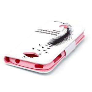 Luxy peňaženkové puzdro pre Acer Liquid Z530 - ptačí pierko - 4