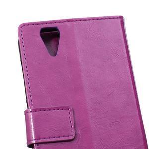 Leat PU kožené puzdro pre mobil Acer Liquid Z630 - fialové - 4