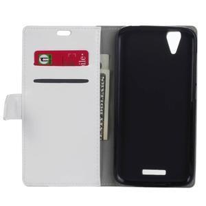 Leat PU kožené puzdro pre mobil Acer Liquid Z630 - biele - 4