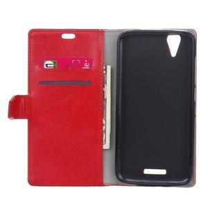 Leat PU kožené pouzdro na mobil Acer Liquid Z630 - červené - 4