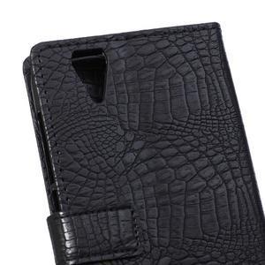 Croco style puzdro pro Acer Liquid Z630 - čierné - 4