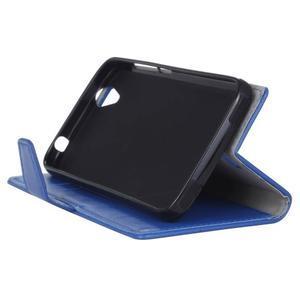 Leat PU kožené puzdro pre mobil Acer Liquid Z630 - modré - 4