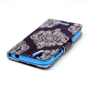 Peněženkové pouzdro na mobil Acer Liquid Z630 - retro květina - 4