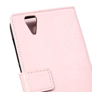 Leat PU kožené pouzdro na mobil Acer Liquid Z630 - růžové - 4