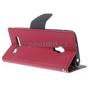 Rose/tmavo modré peňaženkové puzdro pre Asus Zenfone 5 - 4