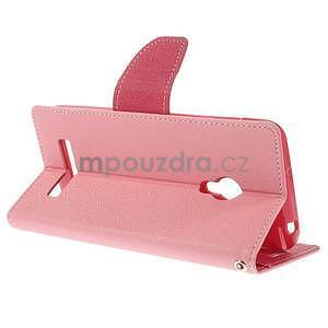 Růžové/rose peňaženkové puzdro na Asus Zenfone 5 - 4