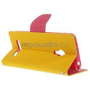 Žluté/rose peňaženkové puzdro na Asus Zenfone 5 - 4