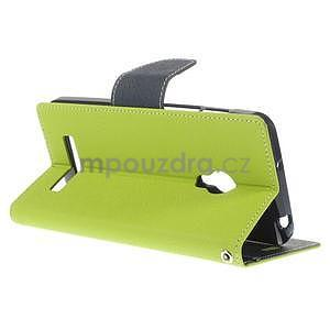 Zelené/tmavě modré peňaženkové puzdro na Asus Zenfone 5 - 4