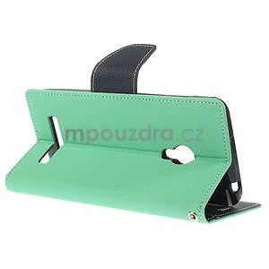 Azurové/tmavě modré peňaženkové puzdro na Asus Zenfone 5 - 4