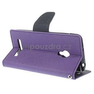 Fialové/tmavě modré peňaženkové puzdro na Asus Zenfone 5 - 4