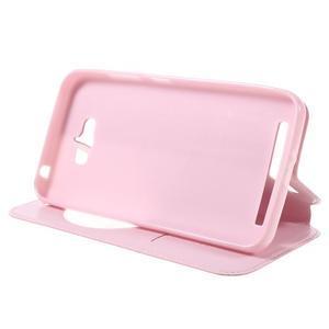 Luxusní pouzdro s okýnkem na mobil Asus Zenfone Max - růžové - 4